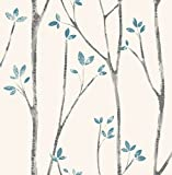 Urban Walls UW24777 Scandi Tree Sidewall - papel pintado de la pared, Azul
