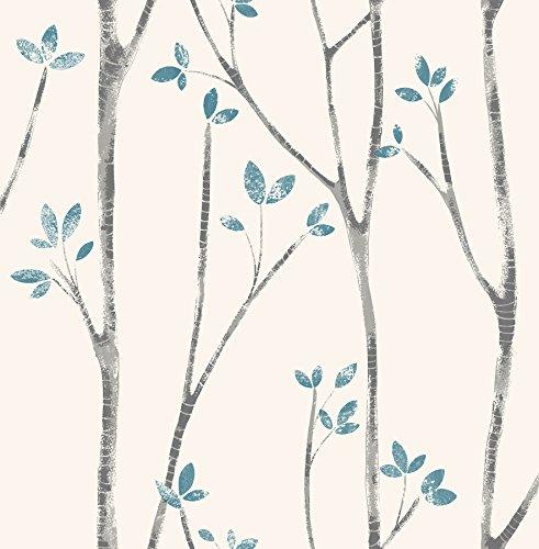 Urban Walls UW24777 Scandi Tree Sidewall - papel pintado de la pared, Azul
