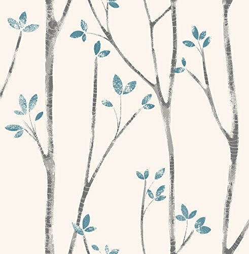 Urban Walls UW24777 Scandi Tree Sidewall, azul