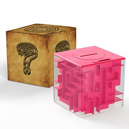 ThinkMax Money Maze, Legen Sie Cash Inside Puzzle Aufbewahrungsbox, tolles Geschenk für Kinder und Kinder (Rosa)
