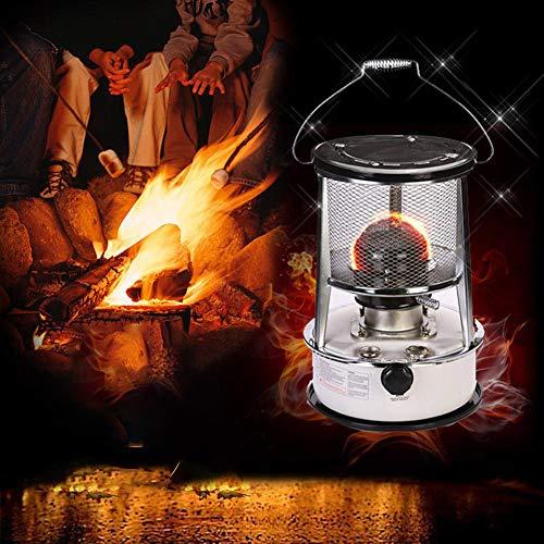 CRZJ Estufa de keroseno Calentador de Campamento de Barbacoa Keroseno Estufa Calentador a Prueba de frío Calentador al Aire Libre con Mango Portátil Equipo de Camping