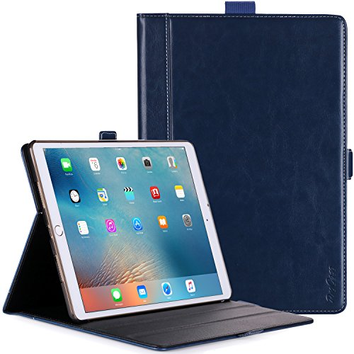 ProCase iPad Pro 12.9 2017/2015 Case - Premium Stand Case Folio Cover for Apple iPad Pro 12.9 Inch (1st Gen 2015) / iPad Pro 12.9' (2nd Gen 2017), with Apple Pencil Holder -Navy
