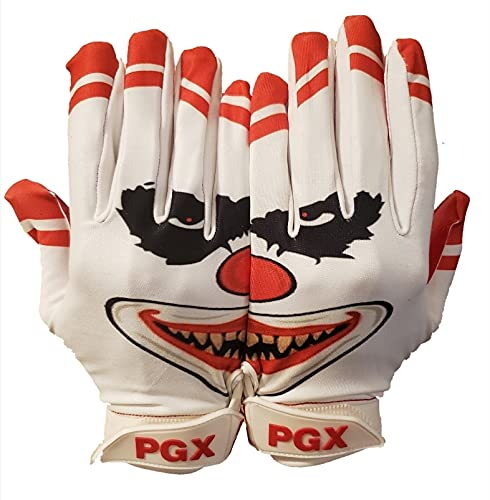 Crazy Clown Football Receiver Gloves for Adult and Youth (Adults, Medium)