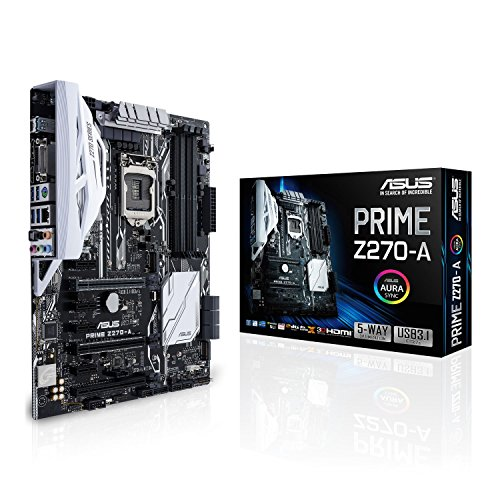Asus Intel Z270 ATX - Placa con Aura Sync, DDR4 3866MHz, dual M.2, Intel Optane memory ready, HDMI, SATA 6Gb/s, USB 3.1 Type-C