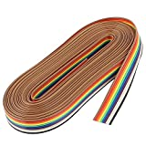 iplusmile 10 Pin Nastro Piatto IDC Arcobaleno di Cavo IDC 10M per Prodotto Digitale