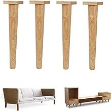 4 x houten meubelpoten, poten voor banken, houten poten voor TV-kasten, kasten, sofa's, bedden, eettafels (17,5 cm)