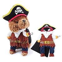 海賊 パイレーツ 犬服 猫服 小型犬 仮装 二足歩行 コスプレ ハロウィン ドッグウエア S M L LP-010fb (L)