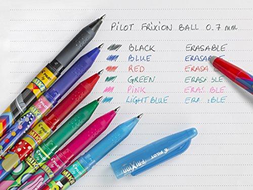 Pilot FriXion Ball Tintenroller Mika limitierte Auflage, mittlere Spitze Stock Moyen Noir, bleu,...