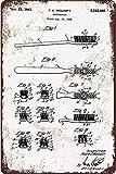 Cartel de metal de estaño 1941 para cepillo de dientes de...