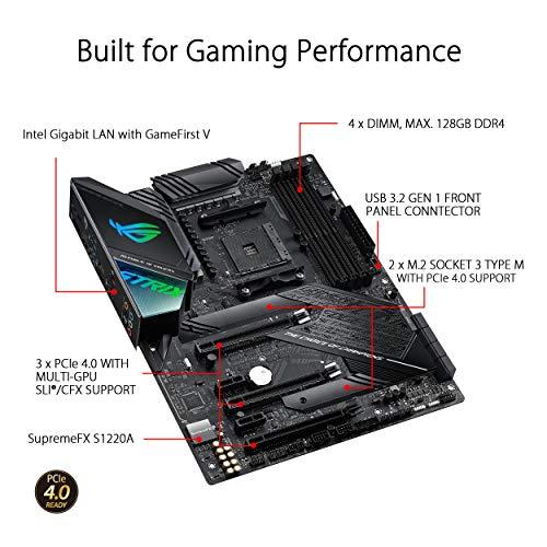 ASUS ROG Strix X570-F Gaming Scheda Madre AMD X570 ATX con PCIe 4.0, Intel Gigabit Ethernet, 14 Fasi di Alimentazione, 2 M.2 con Dissipatori, SATA 6Gb/s, USB 3.2 Gen 2 e Illuminazione RGB Aura Sync