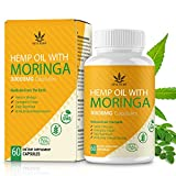 Moringa Powder Capsules with Natural Oil, Rich in Nutrients and Antioxidants, 30000mg 60