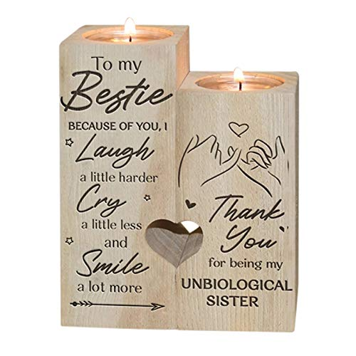 Crazyfly To My Bestie - Smile A Lot More - Candle Holder with Candle Gift...