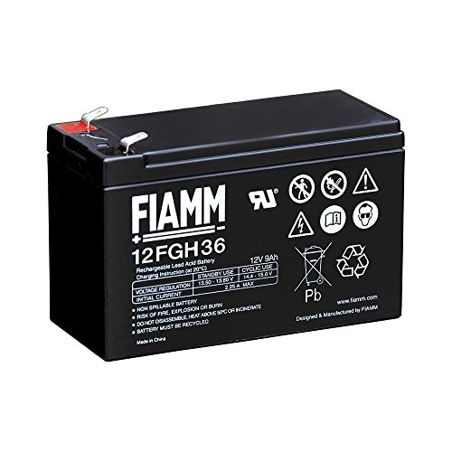 FIAMM IC-12FGH36 - Batteria al Piombo 12V 9Ah (Faston 6,3mm)