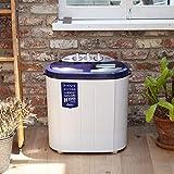 シービージャパン 洗濯機 ホワイト 55cm×36cm×57.5cm 小型 二層式 ステンレス脱水槽 マイセカンドランドリーハイパー comtool