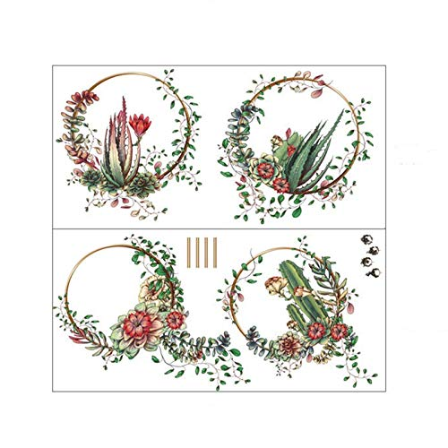 Jihan Wall Stickers Plant Flowers Wall Stickers Garland Wallpaper Living Room Bedroom Decoration Tv Wall Background 30x90cm 2pcs