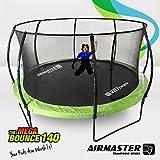 Airmaster® Upgraded Trampoline Set 8ft 10ft 12ft 14ft with Safety Enclosure Pad Spring Net Ladder for Kid Children (14ft Value Set)