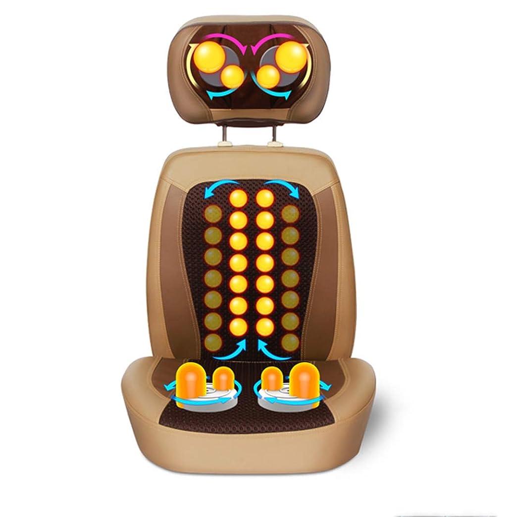 取得するアルコーブピーブ背中と首のマッサージを施した指圧背中マッサージ器3Dの激しい組織と振動マッサージ背中と尻のためのシートクッションフルボディ疲労軽減