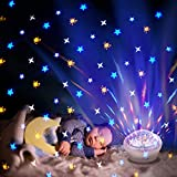 Night Lights Star Projector Nursery Night Light LED Display w/ 4 Modes & Timer & 3 Level Dimmable Display Nebula Ambiance for Baby Kids Adults Bedroom/Game Rooms/Home Theatre Decoration