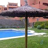 SOMBRILLA JARDIN de BREZO 2 METROS para piscinas, playas o jardines