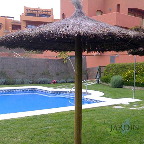 Suinga SOMBRILLA JARDIN de BREZO 2 METROS para piscinas, playas o jardines