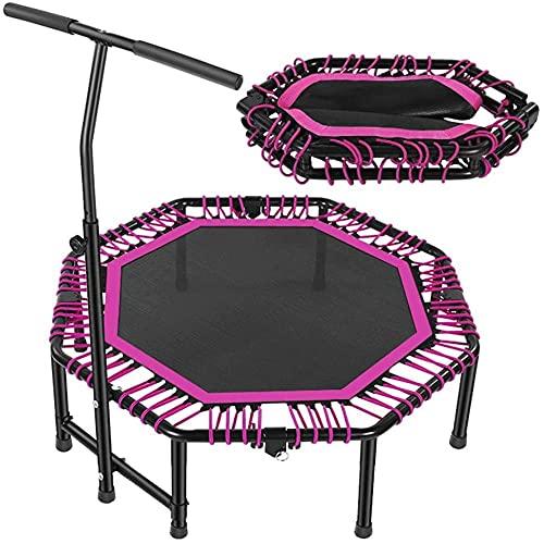 Adulto Fitness Trampoline 48in Mini Mesa de Baloncesto Interior / al Aire Libre Casa Equipo de Gimnasia Equipo de trampolín para niños Pérdida de Peso (Color: Azul)-Púrpura