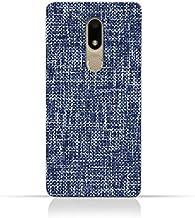AMC Design Motorola Moto M TPU Silicone Case with Brushed Chambray Pattern