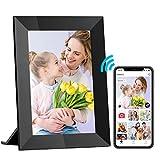 Cornice Digitale Wifi Hyjoy 8 Pollici Cornici Digitali Smart con Display Touchscreen IPS HD, 8GB di archiviazione per condividere foto o video ovunque tramite l'applicazione gratuita AiMOR