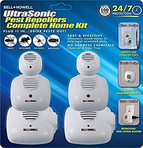 Bell + Howell Ultrasonic Pest Repeller Home Kit (Pack of 6), White (50102)