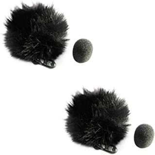 Startice Fuzzy Lavalier Microphone Mic windscreen (Black) 2pack