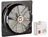Ventilatore Assiale Industriale Parete Finestrino Ventola Turbo Metallo Soffiatore B6PAM-Serie Compreso Regolatore di Velocità - 350