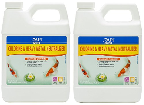 API pond (2 Pack) Mars Fishcare Pondcare Chlorine and Heavy Metal Neutralizer 32 Ounce