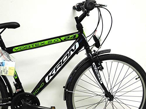 KRON 26 Zoll Fahrrad Herrenrad Jungenfahrrad City Bike 21 Gang Shimano Schwarz Grün neu - 5
