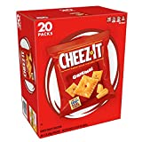 Cheez-It Baked Snack Cheese Crackers, Original, Single Serve, 1 oz Bags (20 Count)