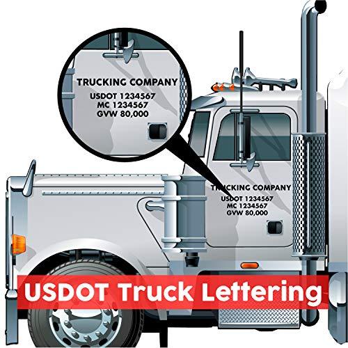 USDOT Number Decal Cab Set (USDOT Truck Lettering)