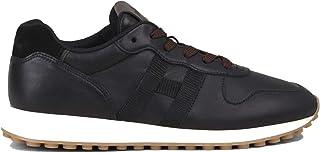 Hogan Scarpe da Uomo H429 HXM4290CZ60OEK0039 Retro Running Sportive Sneakers in Pelle Nero Nuove Comode Casual Tempo Liber...