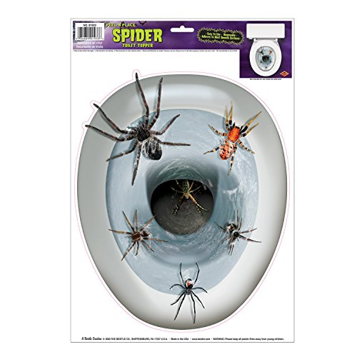 Beistle Spider Toilettendeckel Peel 'N Place Party Zubehör (1 Stück) (1 / Sh)