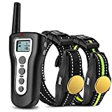 Casfuy Dog Training Collar with Remote - 1000ft Range Electric Shock Collar for 2 Dogs Rechargeable 100% Waterproof with...