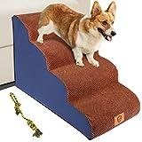 MASTERTOP Escalera para mascotas para perros y gatos, 4 niveles, para cama y coche