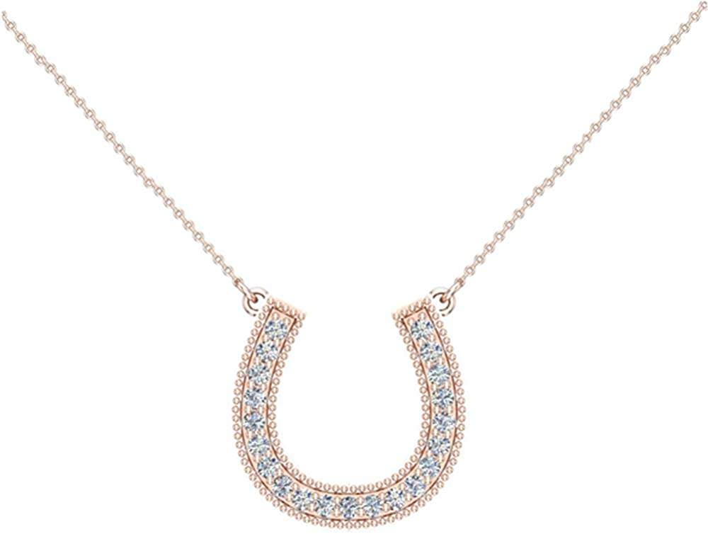 Horseshoe Diamond wholesale Charm Necklace for Women ct - 14K Gold tw 0.30 5 ☆ popular