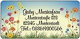 Adressaufkleber - Adressetiketten - Namensetiketten Feldblumen - 210 Stück 54