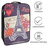 Bennigiry Fashion Love Paris Elements Bolsa de zapatos de viaje, organizador de almacenamiento portátil para zapatos de golf y fin de semana para mujeres y hombres