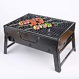 LK-HOME Griglia per Barbecue Portatile, Scrivania per Barbecue A Carbone Pieghevole, Tavolo per Barbecue Compatto per Esterno, BBQ in Acciaio Inossidabile per Giardino PIC-Nic, Campeggio