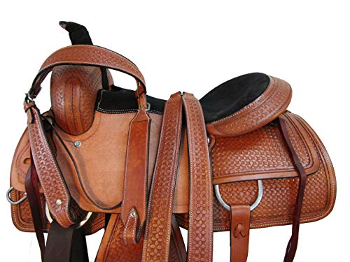 Orlov Hill Leather Co Cowgirl Roping Saddle Pleasure Horse Trail Work Working Horse TACK Set 15 16 17 (16)