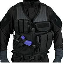 BLACKHAWK! Omega Cross Draw Elite Vest, 6-Inch Length, 32-Inch Girth, Black