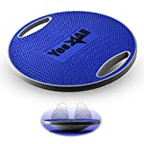 Yes4All Premium Wobble Balance Board/Round Wobble Board – 16.34 inch Plastic Balance Board for Rehabilitation Exercise & Core Strength Training (Cobalt Blue)