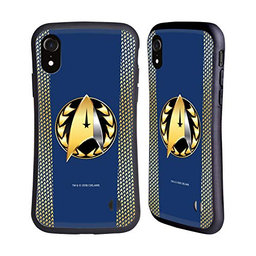 Head Case Designs Offizielle Star Trek Discovery Admiral-Ausweis Uniformen Hybride Huelle kompatibel mit iPhone XR