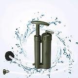 Holzsammlung Filtro per l'acqua da campeggio, depuratore d'acqua da campeggio portatile, filtro per l'acqua multistrato con pompa, adatto per l'escursionismo, il campeggio, il trekking