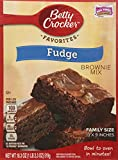 Betty Crocker Fudge Brownie Mix Family Size 18.3oz. (Pack of 4)