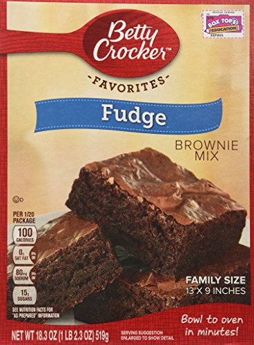 Betty Crocker Fudge Brownie Mix Family Size 183oz Pack of 4