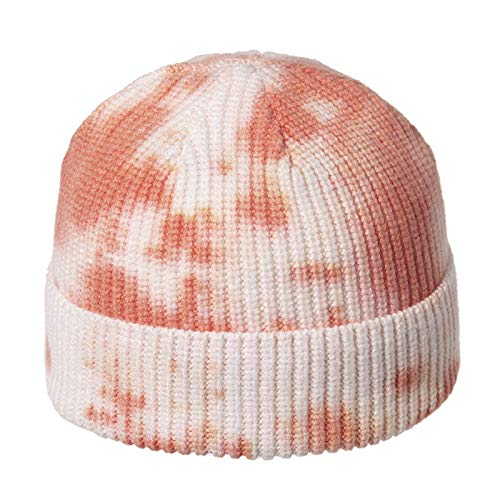 Yuncheng Beanies & Knit Hats - Couple Winter Windproof And Warm All-match Sun Hat Fashion Knitted Edamame Hat Tie-dye Ear Protection Hat Curled Woolen Cold Hat (Color : A)
